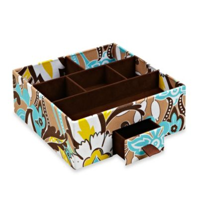 The Macbeth Collection 6-Section Jewelry Organizer with Drawer in Serenea Cappuccino