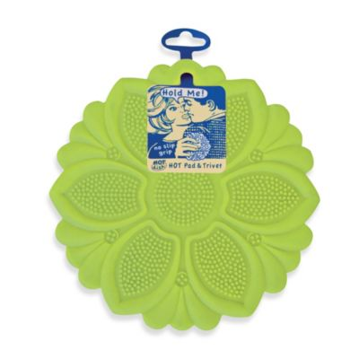 Silicone Pot Holder/Hot Pad/Trivet/Jar Opener in Lime Green