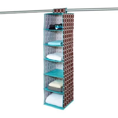 The Macbeth Collection 6 Shelf Organizer in Hula Chocolate