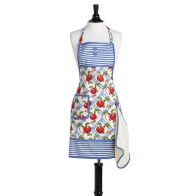 Jessie Steele Apple Of My Eye Gigi Bib Bib Apron in Blue