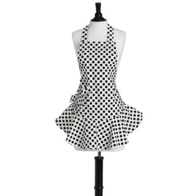 Jessie Steele Polka Dot Bib Josephine Apron in Cream & Black