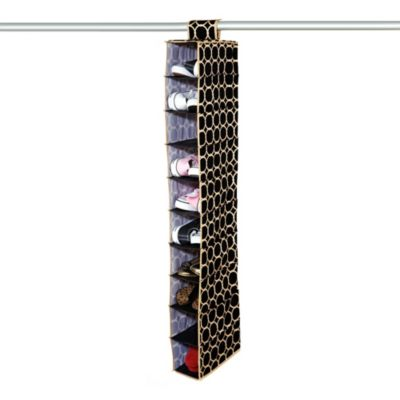 The Macbeth Collection 10-Shoe Hanging Organizer in Hula Black