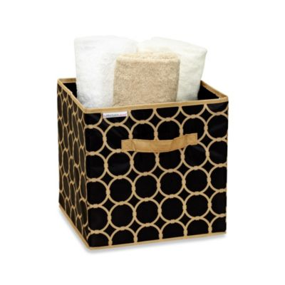 The Macbeth Collection Storage Cube in Hula Black