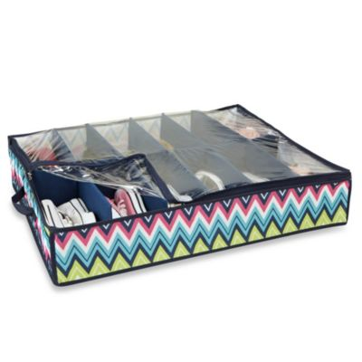The Macbeth Collection 12-Pair Under the Bed Shoe Organizer in Margarita