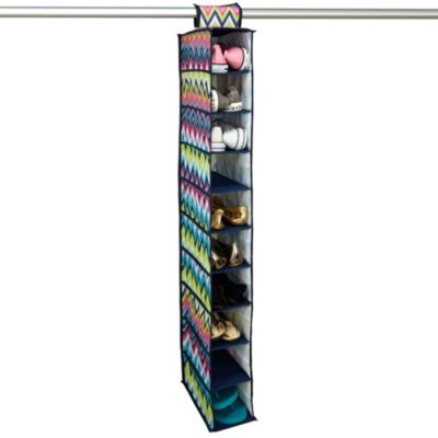 The Macbeth Collection 10-Shoe Hanging Organizer in Margarita