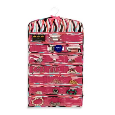 The Macbeth Collection 42-Pocket Hanging Jewelry Organizer in Shag Madison