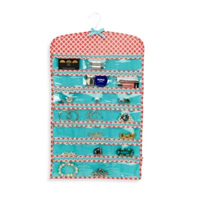 The Macbeth Collection 42-Pocket Hanging Jewelry Organizer in Circa Coral