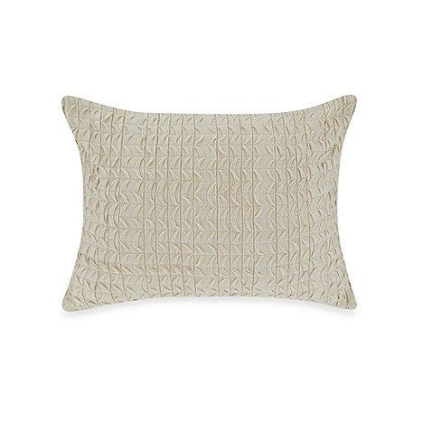 Vera Wang Sculpted Floral Decorative Pillow in Ivory