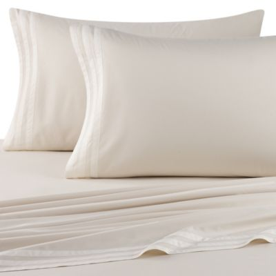 Vera Wang Sculpted Floral Fitted Sheet