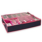 The Macbeth Collection 12-Pair Under the Bed Shoe Organizer in Navy