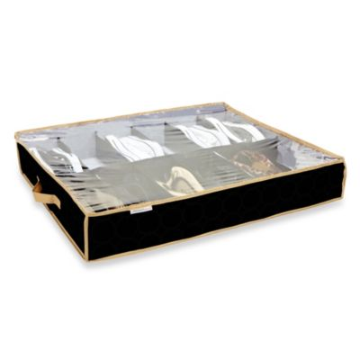 The Macbeth Collection 12-Pair Under the Bed Shoe Organizer in Black