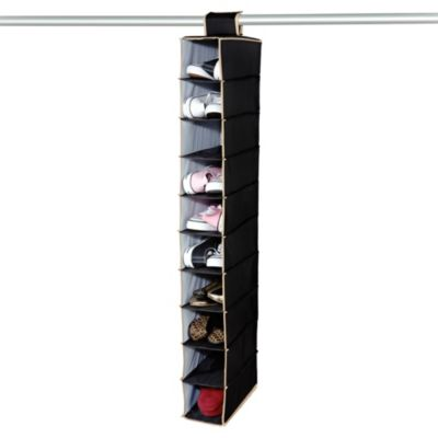 The Macbeth Collection 10-Shelf Hanging Closet Organizer in Black