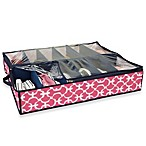 The Macbeth Collection 12-Pair Under the Bed Shoe Organizer in Pink Scout
