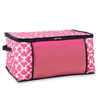 The Macbeth Collection Blanket Storage Bag in Pink Scout