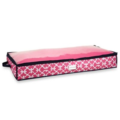 The Macbeth Collection Under-the-Bed Storage Bag in Pink Scout