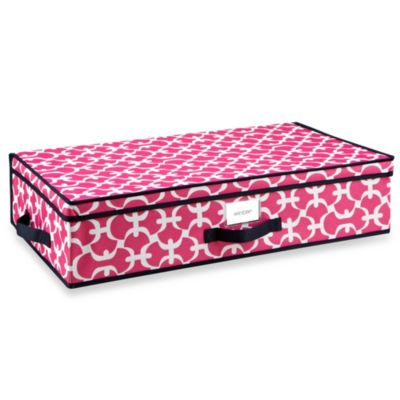 The Macbeth Collection Under-the-Bed Storage Box in Pink Scout