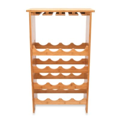 Lipper International 16-Bottle Bamboo Wine Rack