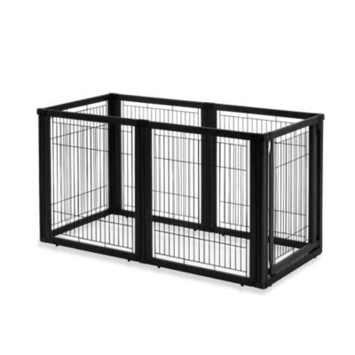 Richell 6-Panel Convertible Elite Pet Gate in Black
