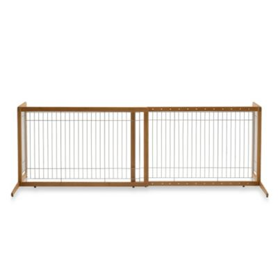 Richell® Take Freestanding Natural Bamboo Pet Gate