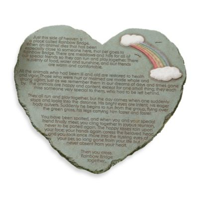 Rainbow Bridge Heart Shape Stepping Stone