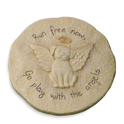 Run Free Now Dog Remembrance Stepping Stone Plaque