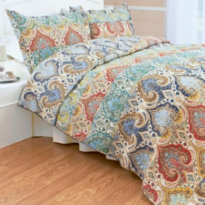 Genoa King Quilt Set in Blue