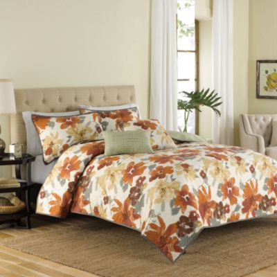 Essex 4-Piece Reversible Twin Quilt Set