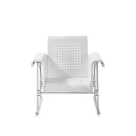 Buy Crosley Retro Chair Glider In Alabaster White From Bed Bath Amp Beyond