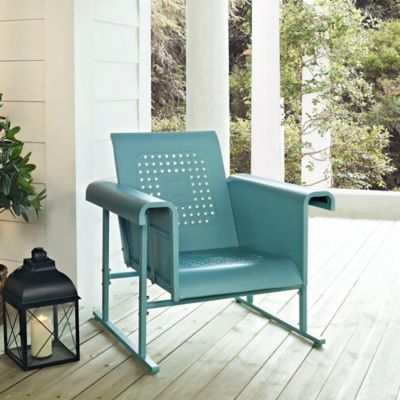 Crosley Retro Chair Glider in Alabaster White