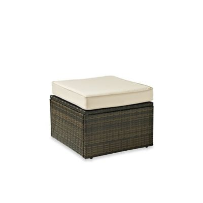 Palm Harbor Collection Outdoor Wicker Ottoman
