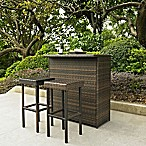 Palm Harbor Collection 3-Piece Outdoor Wicker Bar Set