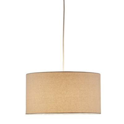 Adesso® Harvest Drum 1-Light Pendant Light in Natural