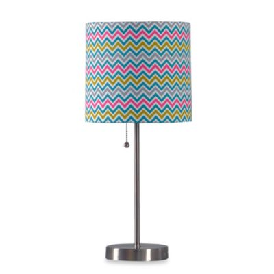 Chevron Table Lamp with CFL Bulb