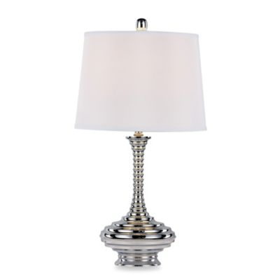 Bel Air Chrome Ribbed Table Lamp (Set of 2)