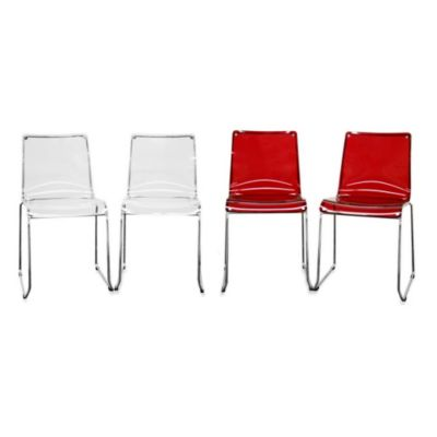 Baxton Studio Lino Acrylic Dining Chair (Set of 2)