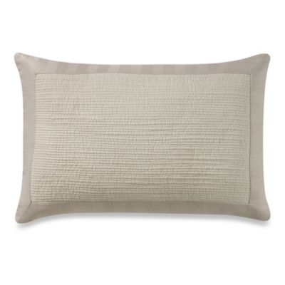 Vera Wang Sculpted Floral Oblong Toss Pillow