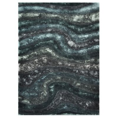 Loloi Rugs Glamour Shag 7-Foot 10-Inch x 11-Foot Rug in Midnight