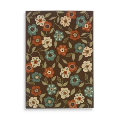 Oriental Weavers Montego 5-Foot 3-Inch x 7-Foot 6-Inch Rug in Brown Floral