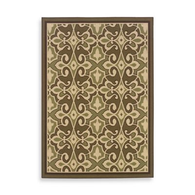 Oriental Weavers Montego 5-Foot 3-Inch x 7-Foot 6-Inch Rug in Damask Green
