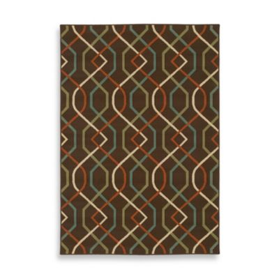 Oriental Weavers Montego Zigzag 5-Foot 3-Inch x 7-Foot 6-Inch Rug in Brown