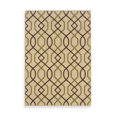 Oriental Weavers Montego Zigzag 5-Foot 3-Inch x 7-Foot 6-Inch Rug in Ivory