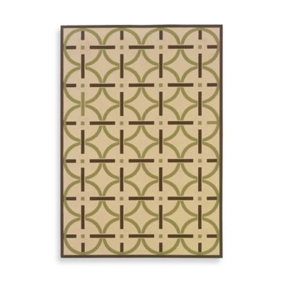 Oriental Weavers™ Sphinx™ Montego Bullseye Indoor/Outdoor Rug in Ivory