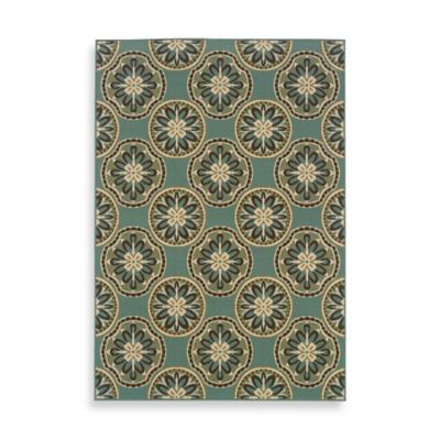 Oriental Weavers™ Sphinx™ Montego Sand Dollars Indoor/Outdoor Rug in Blue