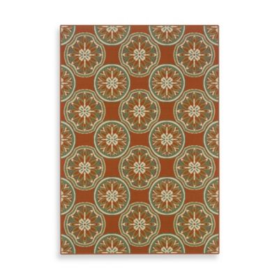 Oriental Weavers™ Sphinx™ Montego Sand Dollars Indoor/Outdoor Rug in Terracotta