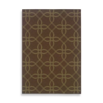 Oriental Weavers Montego Tile 8-Foot 6-Inch x 13-Foot Indoor/Outdoor Rug in Brown/Ivory
