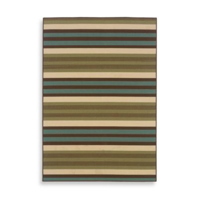 Oriental Weavers™ Sphinx™ Montego Indoor/Outdoor Rug in Blue/Green Stripe