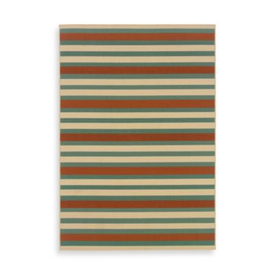 Oriental Weavers Montego 6-Foot 7-Inch x 9-Foot 6-Inch Rug in Terracotta Stripe