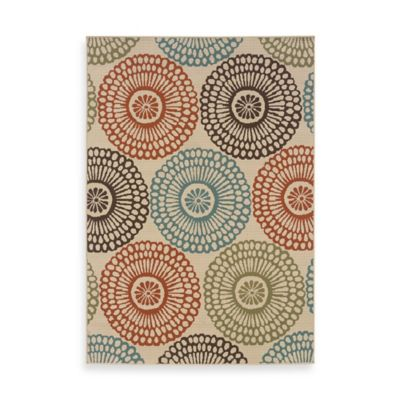 Oriental Weavers™ Sphinx™ Montego Multi Medallions Indoor/Outdoor Rug