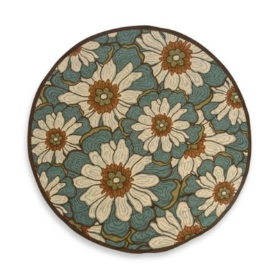Oriental Weavers Montego 7-Foot 10-Inch Round Rug in Blue Floral