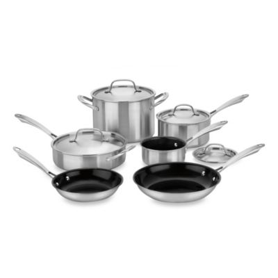 Cuisinart® Green Gourmet Tri-Ply 10-Piece Cookware Set